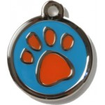 Blue & Orange Paw